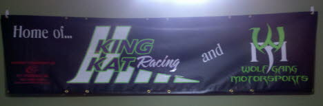 Simple vinyl on vinyl banner for the I500 Race in the UP