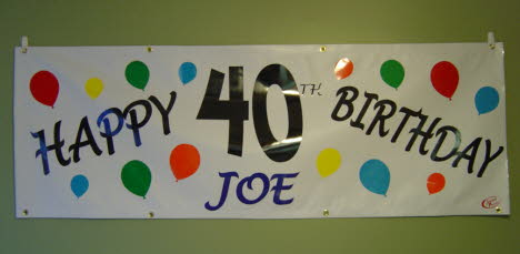 Personalized Birthday Banner, Small Cost Efficient Banners, Better Than Staples Banners