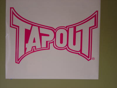 Large Tapout Window Decal