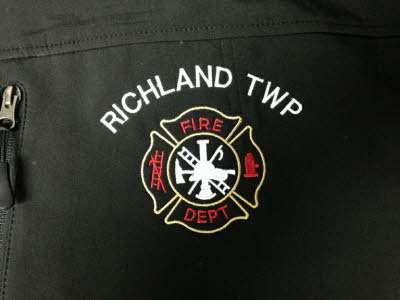 Richland Fire Dept, Embroidered Fire Logo, Richland Fire Department, Richland Township, Fire Fighters, Fire Rescue Logo