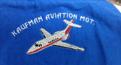 Embroidered Airplane Logo, Airport Logo, Airplane Embroidery