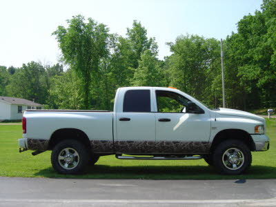 Dodge Ram, Lower Camo Wrap, Wraps, Camo Wrap, Camo Vinyl