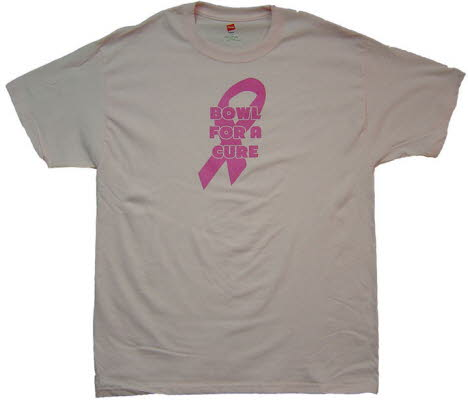Bowl For A Cure, Breast Cancer Awareness, Fund Raiser T-Shirt