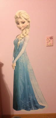 Lifesize Elsa Wall Graphic, Wall Graphics, Custom Printed Wall Paper